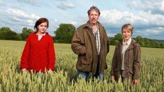 Pip Archer (HELEN MONKS), David Archer (TIMOTHY BENTINCK) and Ruth Archer (FELICITY FINCH)