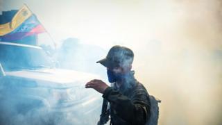 Беспорядки в Венесуэле.