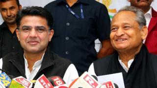 राजस्थान में कांग्रेस नेता अशोक गहलोत