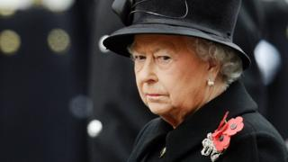 The Queen at Remembrance Sunday ceremony