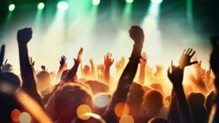 Stock image of a music festival