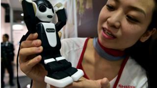 Sharp unveils the humanoid robot