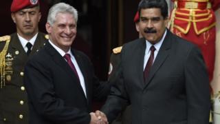 Miguel Díaz-Canel y Nicolás Maduro.