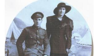 Soldier James Cooper with wife Margaret