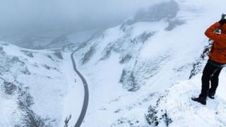Winnats Pass snow slip