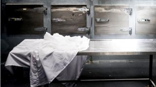 A stock image of a morgue