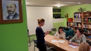 Урок есперанто в польській школі