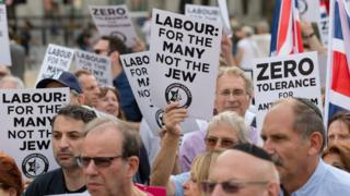 Protest by Labour members against anti-Semitism