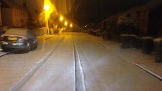 Snow fell overnight in Lurgan