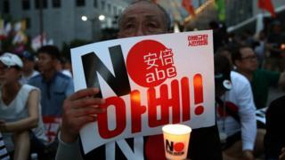 South Korean protester