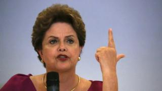 Former Brazilian President Dilma Rousseff speaks during a news conference in Rio de Janeiro, Brazil March 26, 2018.