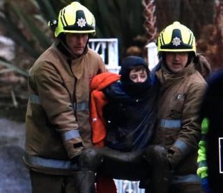Rescued boy