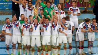 Germany na di defending world champions, after dem beat Argentina 1-0 for di 2014 final