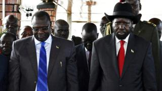 Riek Machar and Salva Kiir Mayardit