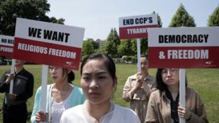 人权组织出现在华盛顿六四纪念活动上