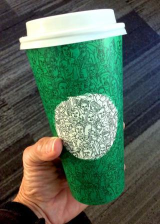 чашка Starbucks по мотивам выборов в США