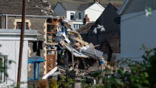 House damaged by blast