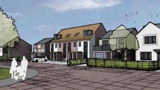 Artist's impression of the new homes at Newcastle Great Park
