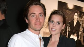 Edoardo Mapelli Mozzi and Princess Beatrice of York attend the Lenny Kravitz & Dom Perignon 'Assemblage' exhibition,