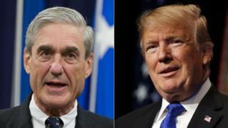Robert Mueller (left) and Donald Trump