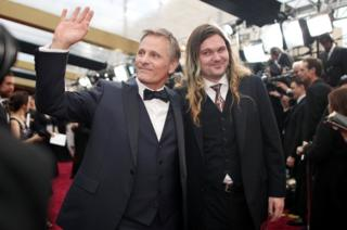 Actors Viggo Mortensen (L) and Henry Mortensen