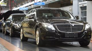Mercedes-Benz S Class luxury cars made by Daimler - file pic