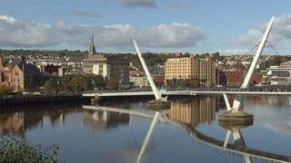 The Peace Bridge over the River Foyle