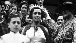 A woman being crowned