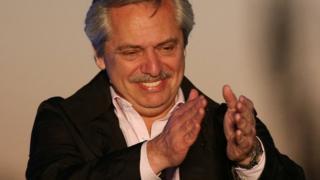 Alberto Fernandez at campaign rally - 17 October