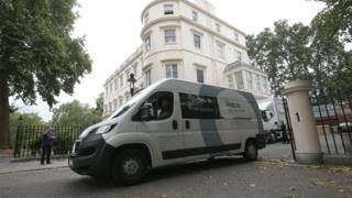 Removal van at Boris Johnson's residence