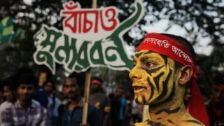 রামপাল প্রকল্পের বিরুদ্ধে বাংলাদেশে প্রতিবাদ