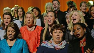 Politicians and musicians singing the Jo Cox charity single