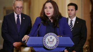 Sen Tammy Duckworth at the US Capitol November 7, 2017