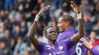 Le guinéen Issiaga Sylla a marqué le but de la victoire pour Toulouse face au FC Nantes ( victoire 1-0)