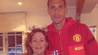 Rio Ferdinand and his mother, Janice St Fort