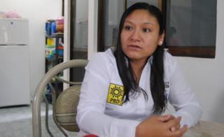 Aracely Garcia Lagunas, candidata a diputada local por el PRD.