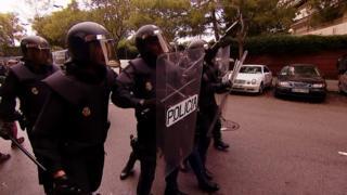 Полиция на улицах Барселоны