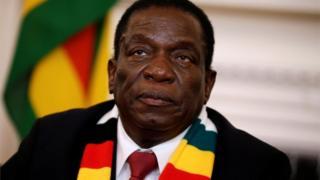 Emmerson Mnangagwa at Friday press conference