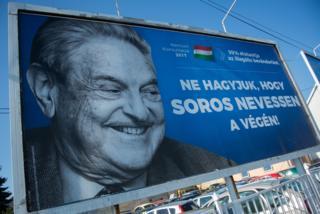 Outdoor na Hungria contra George Soros