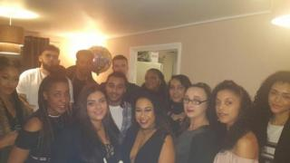 Mahalia Hamid and her friends before they went out