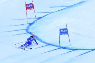 Italy's Federica Brignone competes during the FIS Alpine World Cup Women's Giant Slalom on 23 January 2018 in Kronplatz, Plan de Corones, Italian Alps. Germany's Viktoria Rebensburg won the race ahead of Norway's Ragnhild Mowinckel, and Italy's Federica Brignone.