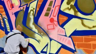 Street artist Kios