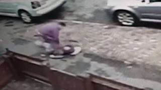 CCTV still of robbery