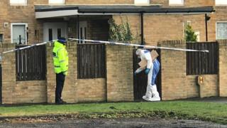Police at scene of death