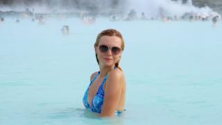 Turistas en Blue Lagoon