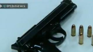 The alleged murder weapon in the killing of Mitra Ostad