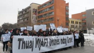 Marcha das Mulheres em Pristina