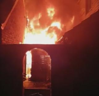 Fire at Briarbank Avenue, Carlton, Nottingham