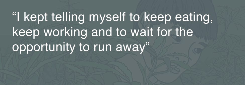 Quotebox: I kept telling myself to keep eating, keep working and two wait for the opportunity to run away
