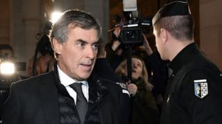 Former French budget minister Jerome Cahuzac arrives at Paris court, 8 Dec 16